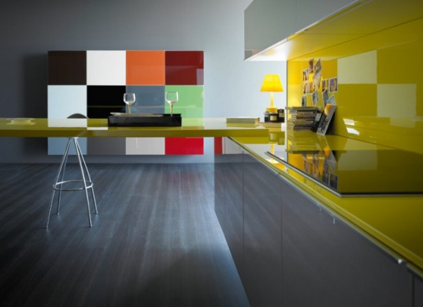 Magnificent Collection of Modern and Tradional Kitchen Design for You: 2 Glasses Laminate Kitchen Floor Stool Bar Yellow Kitchen Table Wall Painting Accessory ~ stevenwardhair.com Kitchen Designs Inspiration