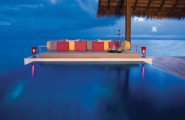 Five Stars Resorts In Maldives: Reethi Rah : 5 Stars Resort In Maldives Reethi Rah Grand Water Villa Exterior Design With Private Infinity Pool Chaise Lounge Ideas