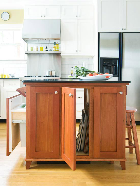 Various Small Space Kitchen Island Design Ideas: Astonishing Slender Wooden Furniture Style Small Kitchen Island With Large Drawer Design Providing Convenient Storage