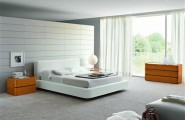 Cool Bedroom Wall Designs Ideas : Cool Bedroom Wall Design Cozy Modern Bedroom Interior Design With White King Bed And Large Glass Window Curtain Carpet Ideas
