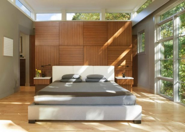 Cool Bedroom Wall Designs Ideas: Cool Bedroom Wall Design Stylish Contemporary Bright Master Bedroom Interior Design With Modern King Bed And Wooden Flooring Ideas ~ stevenwardhair.com Bed Ideas Inspiration