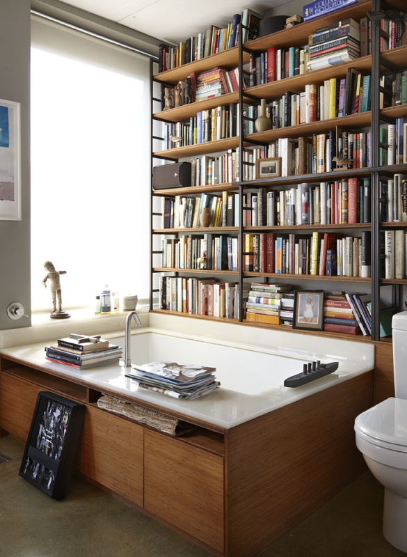 Miscellaneous High End Bookshelves Design: Cool Cunningham Bathroom Library Interior Design With Amazing High End Bookshelves