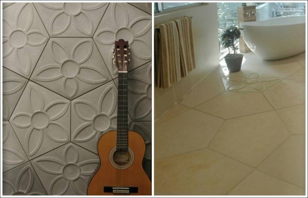 3D Wall Tile Design Ideas For New Dimension Of Wall Decor: A Glamoruos Floral Bash 3D Wall And Floor Tile Design From Daniel Ogassian ~ stevenwardhair.com Interior Design Inspiration