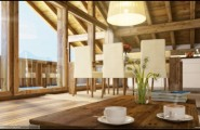 Terrific Woodhouse Concept Design That Can Produce All You Need In House : Affordable Timber Frame Wood Houses Customized To Your Dream With Flower Vase Nice Wood House Framed Interior