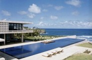 Amazing Pool Designs For Contemporary Home : Amazing Big Pool Design Contemporary Home Ideas Terrace Bay View Seats Lawn
