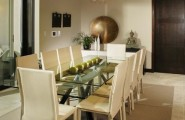 The Right Way Choosing A White Paint For Home : Amazing Contemporary Kitchen Glass Dining Table Warm White Paint And Use Of Whites With Khaki Undertones With Natural Materials Create An Organic Feel