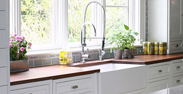 Contemporary Kitchen Designs Get The Look: Amazing Contemporary White Kitchen Cabinet Faucet Window Susan Serra Design