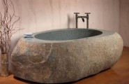 Stunning Most Creative Bathtub Design Ideas : Amazing Creative Stone Forest Bathtub Design Ideas
