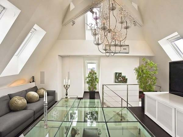 Inspiring Flooring Design Ideas: Amazing Inspiring Glass Floors Ideas In Luxury Living Room Interior Design With Chandelier Sofa
