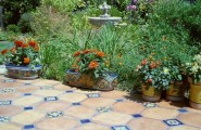 Amazing Various Outdoor Patio Floor Tiles Designs : Amazing Mediterranean Outdoor Patio Floor Tiles