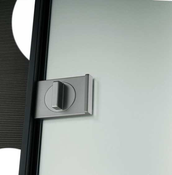 Cotemporary Modern Interior Glass Doors : Amazing Modern Interior Sliding Glass Door Locks Spin With Metal Formed Frame
