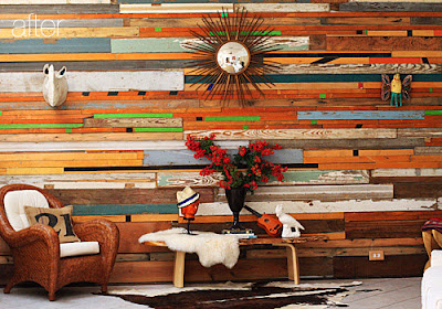 Awesome Reclaimed Wood Wall Design Ideas: Amazing Multicolor And Size Salvaged Wood Wall That Fitted It All Together To Create This Knock Out Wall Decor Design Ideas