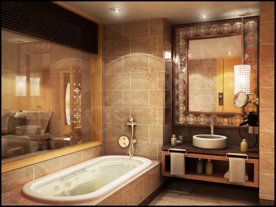 Breathtaking Bathrooms With Amazing Personality : Amazing Personality Breathtaking Bathrooms With Classic Mirror Marble Wall Circle Sink Clean Simple Bathup Big Mirror Mounted Cabinet