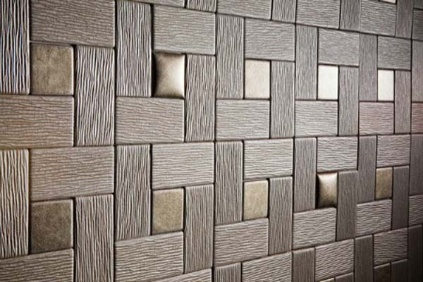 Awesome Padded Wall Panel Design As A Wall Decor Ideas : Amazing Trend Dark Color Textured Padded Wall Panels Design