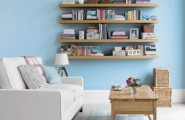 Simple But Smart Living Room Storage Ideas : Amazingstorage Decoration To Save The Space With A Traditional Bookcase And Open Shelves Interior With Living Room Decorating And Sideboards And Baskets With Blue Wall