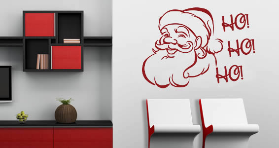 All Kind Of Christmas Holiday Wall Decals : Amusing Christmas Santa Claus Wall Decal
