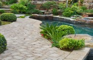 Combination Materials And Layouts To Design Pool Deck : Appealing Astonishing Combination Of Many Factors Pool Desk Design Above Ground Pool Deck Designs