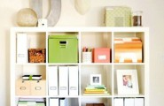 Marvellous Smart Space For Home Office Design : Appealing Modern Thoughtful Home Office Storage Solution Ideas With Custom Square Built Ni Cabinet For Office Accessories