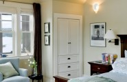 Amazing Built In Bedroom Furniture Designs : Appealing Rustic Bedroom Built In Bedroom Furniture Designs Unit On The Wall Next To The Nightstand Built Ins For Extra Linen Storage A Swing Arm Sconce Is Ideal For A Guest Room
