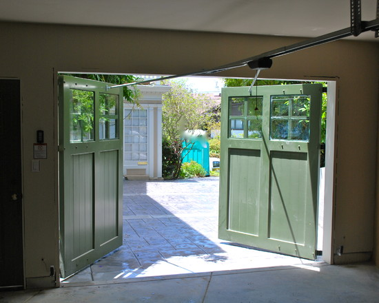 Splendid Swing Out Garage Door: Appealing Traditional Garage And Shed Swing Out Garage Door Split Down The Middle And Open Out Instead Of Rolling Up