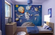 Astonishing Blue Decoration Color For Boys Bedroom Design Ideas : Astonishing Decoration Blue Color For Boys Bedroom Design Ideas Spacious Bed Can Altered With Ease In Future Great Wall Decor