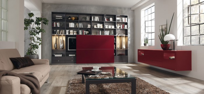 Great Design For Modern Living Room Furniture Ideas : Astonishing Design For Modern Living Room Furniture Ideas Modern Style Modular Wall Units Built In Mounter Cabinet Brown Sofa Bookshelf