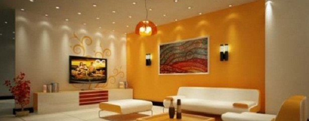 Cotemporary Picture Perfect Living Room Design for City Living: Astonishing Living Room Design For City Living With Yellow Wall Ornamented Wall Decoration Comfortable Living Room Ideas With Nice Painting ~ stevenwardhair.com Design & Decorating Inspiration