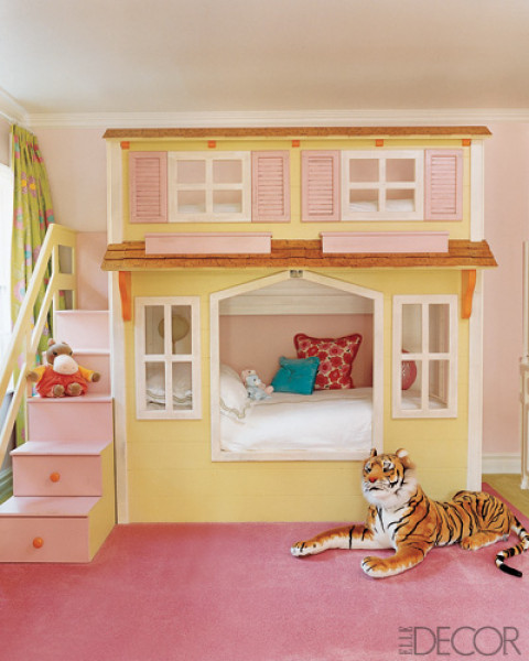 Pretty Pinky Different Styles Collection Of Cool Design Ideas For Little Girls Bedrooms : Astonishing Pretty Pinky Different Styles Collection Of Cool Design Ideas For Little Girls Bedrooms Girl Bedroom With A Cottage Bed
