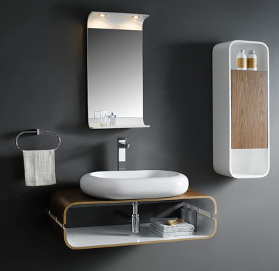 Captivating Bathroom Vanity Ideas For Small Bathrooms Design : Astounding Wall Mount Contemporary Small Bathroom Vanity Design Ideas