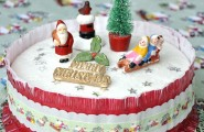 Fascinating Christmas Banquet Table Decoration Ideas : Awesome Christmas Banquet Table Decoration Ideas Scrumptious Christmas Cake Decorations With Cool Santa And Tree Figure Decoration
