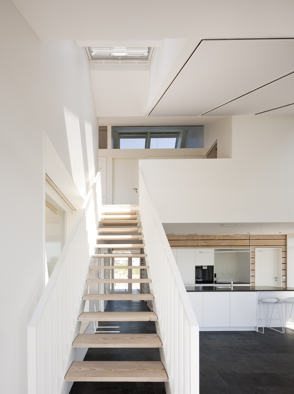 Home For Life: The First Active House In The World: Awesome Home For Life Stairs Design With Wooden Flooring Ideas