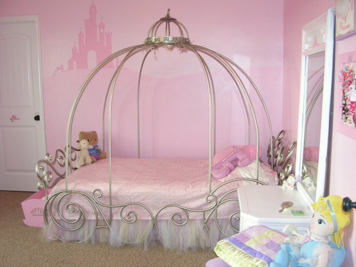 Pretty Pinky Different Styles Collection Of Cool Design Ideas For Little Girls Bedrooms : Awesome Pinky Collection Of Cool Design Ideas For Little Girls Bedrooms Cute Funny Pink Castle Decor Little Girls Bedroom Ideas Siple Dressing Table
