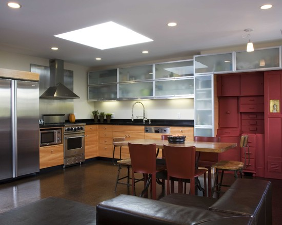 Surprising Salvaged Cabinet: Awesome Salvaged Cabinets At Contemporary Kitchen