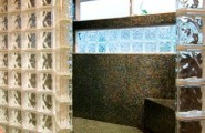 Interesting Photos Of Glass Block Showers : Awesome Spacious Glass Block Shower Enclosure At Traditional Bathroom