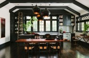 Traditional Home With Vintage Touches From A Library : Awesome Traditional Interior Home Design With Vintage Touches With Cabinets That Boast The Warmth Of Wood From Simple Alder And Knotty Pine To Elegant Walnut