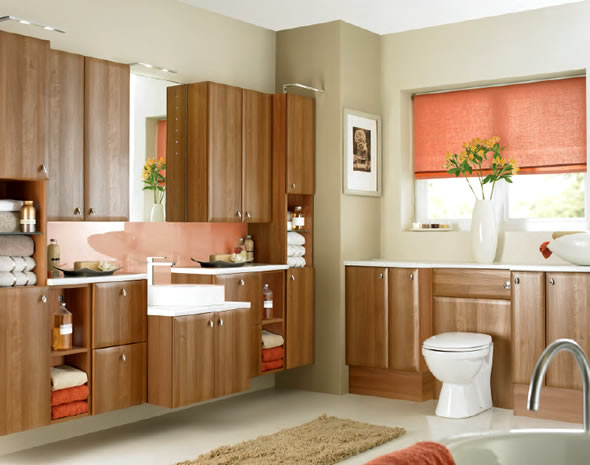 Bathroom Renovation Checklist: Bathroom Renovation 9 Cozy Wood Cabinets Toilet Bowl Rug Tile Flooring