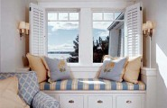Ideas For Window Seats : Beautiful Bay View Room Window Seats Design With Cushions Bottom Chest Of Drawer Lamps Chaise Lounge Carpet Ideas