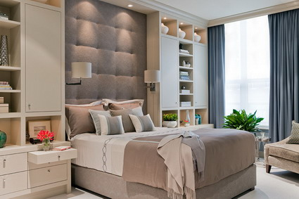 Small Master Bedroom Colors Design Ideas : Beautiful Brown Color Modern Master Bedroom Bed Furniture And Cabinets Interior Decorating Design Ideas1