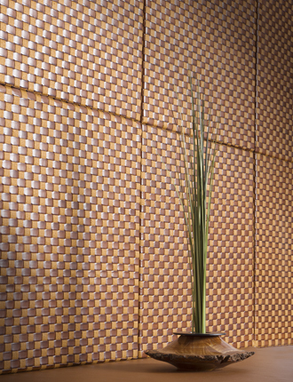 Awesome Padded Wall Panel Design As A Wall Decor Ideas : Beautiful Brown Scheme Leather Padded Wall Panels Design With Unique Vase Ideas