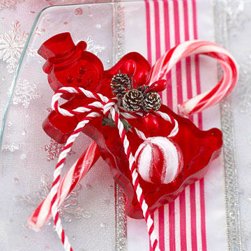 Sweet Christmas Candy Decoration Ideas : Beautiful Christmas Candy Decoration Candy Place Setting