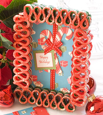 Sweet Christmas Candy Decoration Ideas: Beautiful Christmas Candy Decoration Ribbon Candy Card Frame