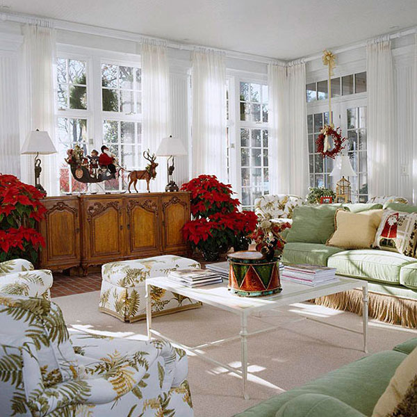 Beautiful Living Rooms Christmas Decoration Ideas Room Decorating With Reindeer Statue
