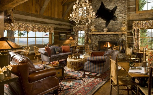 Beautiful Country Style Decoration For Your Home: Beautiful Country Style Living Room Interior Decoration With Country Style Furniture And Large Country Style Window With Floral Curtain ~ stevenwardhair.com Country Home Design Inspiration