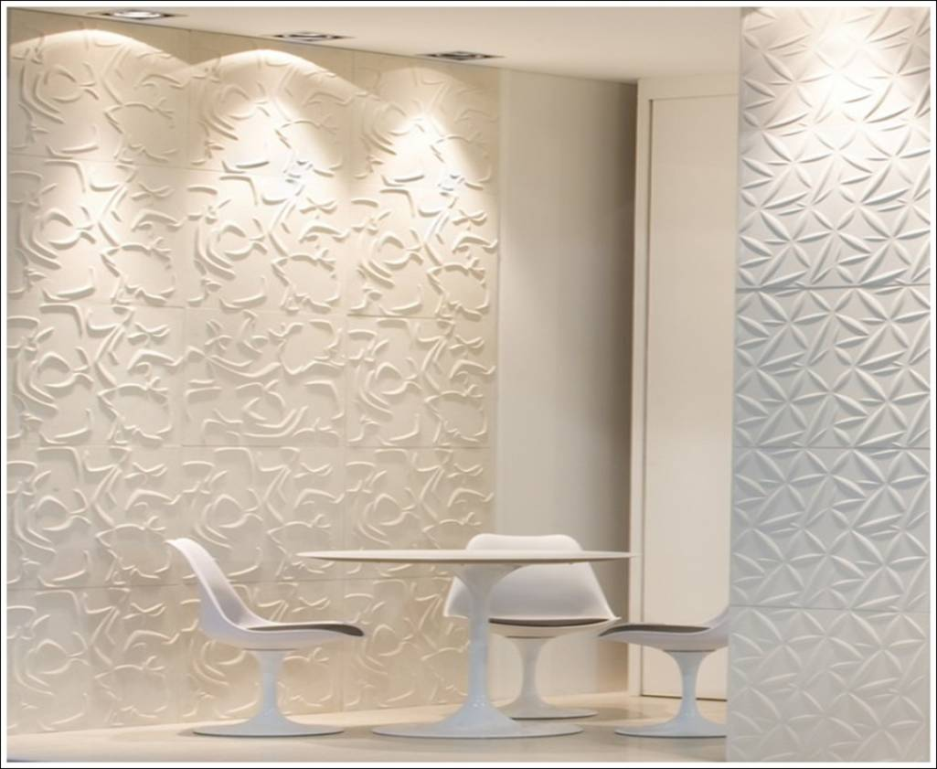 Wall Tile Design Ideas For New Dimension Of Decor Beautiful Creamy White Textured