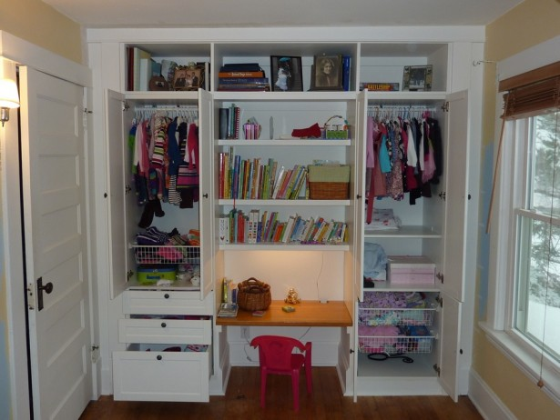 Build Your Desk In A Closet: Beautiful Desk In Closet Ideas For Kids ~ stevenwardhair.com Bookshelves Inspiration