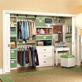 Build Your Desk In A Closet: Beautiful Desk In Closet Ideas Seat Sliding Door Carpet Wooden Flooring ~ stevenwardhair.com Bookshelves Inspiration