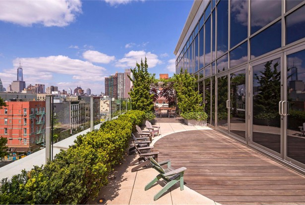 Manhattan Penthouse Apartment: Beautiful Manhattan Penthouse Apartment Terrace With Pavilion Chairs Plants Tempered Glass Vence Combination Tile Wood Floors Ideas ~ stevenwardhair.com Apartments Inspiration