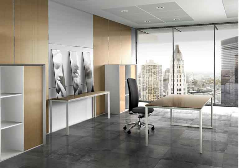 Beautiful Office Interior Designs in Modern Concept: Beautiful Office Interior Designs With Face Portraits Grey Floor Balck Swivel Chair Wide Windows
