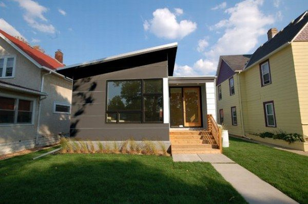 Cozy Small Sustainable Contemporary Prefab Homes : Beautiful Small Sustainable Contemporary Prefab Home Exterior Design By HIVE Modular Architecture Design Called B Line Small