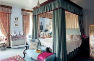 Flaunt Your Bedrooms with Decorative Canopy Beds (part-1) : Beautiful Sun Filled Irish Country House Bedroom Design With Canopy Bed And Serena Draped Beds